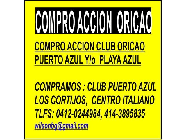 COMPRO ACCIONES CLUB PUERTO AZUL, PLAYA GRANDE, VALLE ARRIBA, TACHIRA, - 1/2