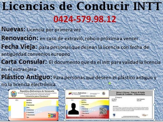 LICENCIAS INTT DE VENEZUELA - 1/3