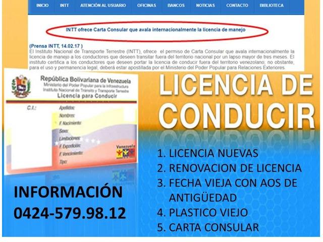 LICENCIAS INTT DE VENEZUELA - 3/3