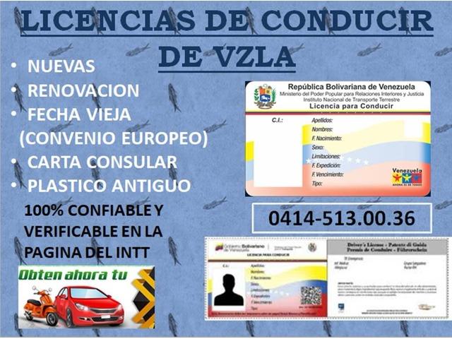 LICENCIAS DE CONDUCIR DEL INTT VZLA - 1/3