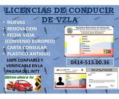 LICENCIAS DE CONDUCIR DEL INTT VZLA - Imagen 1/3