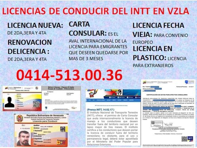 LICENCIAS DE CONDUCIR DEL INTT VZLA - 3/3