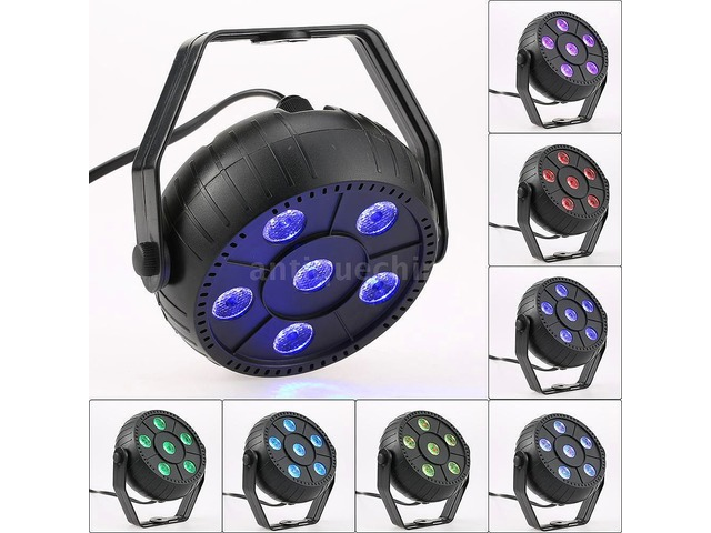 Mini Par Led 6 Rgb 9w Multicolor (r.g.b.y.c.f.w.) Nuevos! - 3/6